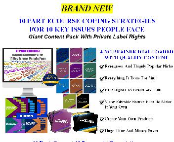 [Quality Giant PLR] 10 Part Ecourse: Coping Strategies For 10 Key Issues People Face discount code