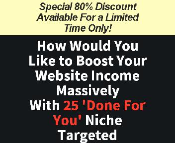 Store Buildr - 25 Niche Website Package #3 discount code