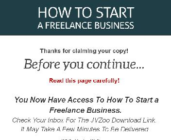 How To Start a Freelance Business Upgrade Master Resale Rights discount code