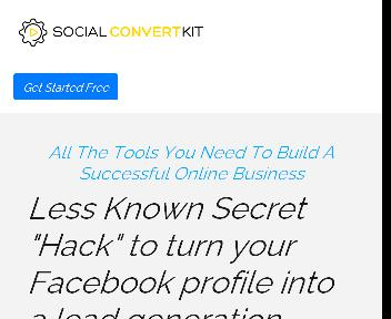 SocialConvertKit   A Complete Toolkit for Facebook Marketing.(ONETIME) discount code