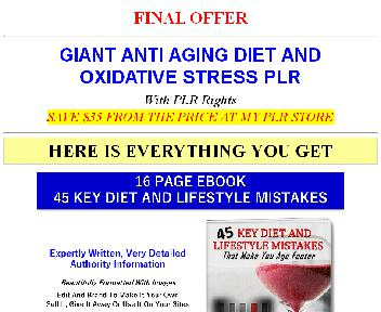 Giant Healthy Eating In Aging And Oxidative Stress PLR (Memory OTO 3) discount code