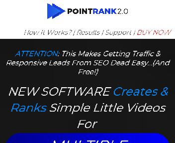 POINTRANK 2.0 - Automated Live Events Gets Unlimited Free Traffic discount code