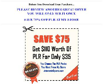 Save $75  $110 Worth Of Quality PLR For $35 (Heal Affirm OTO  2) discount code