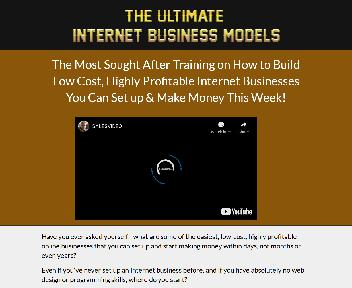 Internet Business Models Video Training Software discount code