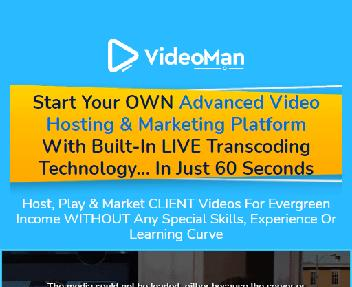 VideoMan - HOST, Stream Lightning Fast Videos with Video Editor, Stock Assets & Video Recording discount code
