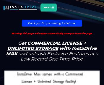 InstaDrive MAX - The ultimate Cloud Storage discount code