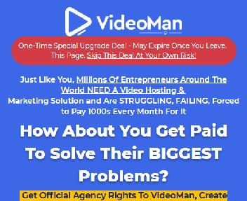 VIDEOMAN Agency VIP - Create VideoMan Accounts for 100 Clients and Charge Them Monthly, Year discount code