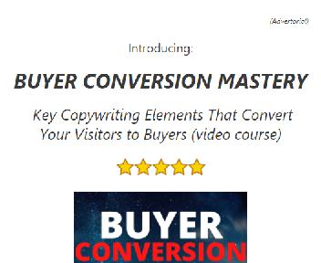 Buyer Conversion Mastery: Key Copywriting Elements That Convert Your Visitors to Buyers discount code