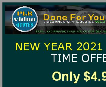 PLR Video Quotes Vol.3 New year offer. Coupon Codes