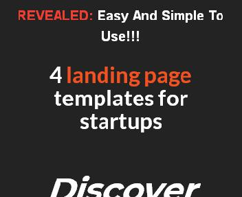 The 4 Templates Of Landing pages discount code