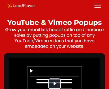 LeadPlayer - YouTube & Vimeo Popups to Grow Email List & Sales discount code