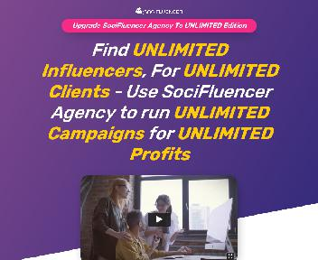 SociFluencer Agency Unlimited Edition discount code