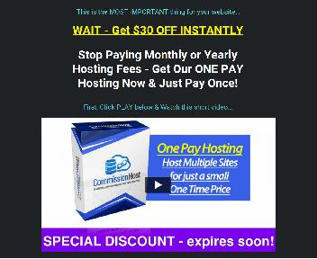 Commission Host - Hosting for 50 Sites discount code