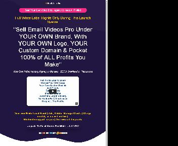 Email Videos Pro White Label (50 Accounts) discount code