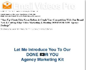 Email Videos Pro Agency Kit discount code