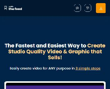 Levidio The Feed - Easiest Way to Create Highly Captivating Video & Graphic discount code