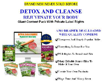 [Quality Giant PLR] Detox And Cleanse: Rejuvenate Your Body discount code