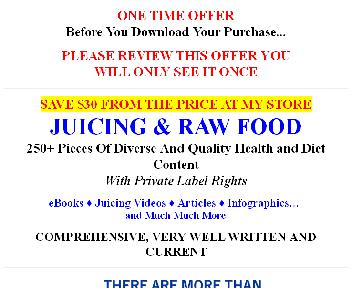 Quality Giant Juicing PLR discount code