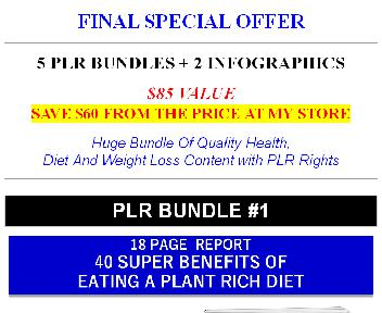 Highest Quality Giant Health, Weight Loss And Diet PLR (Detox OTO 3) discount code