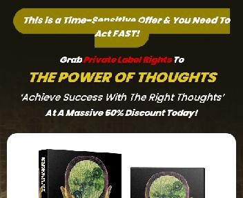 THE POWER OF THOUGHTS discount code