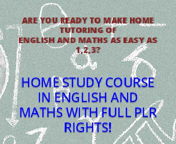 PLR English And Math Home Study Pack 9-13 yrs & 14+ years. discount code