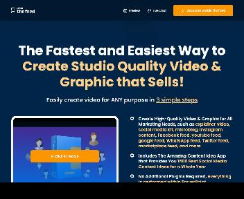 (Personal License) Levidio The Feed - Easiest Way to Create Highly Captivating Video and Graphic discount code