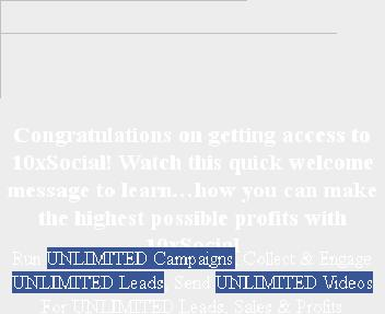 10xSocial Unlimited discount code