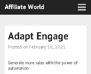 Adapt Engage discount code