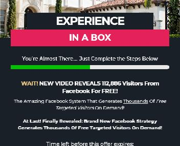Experience In A Box - Instant FB Traffic Upgrade discount code
