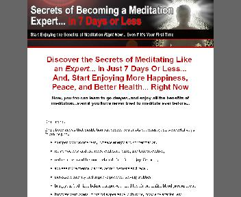 Secrets Of Becoming A Meditation Expert Coupon Codes