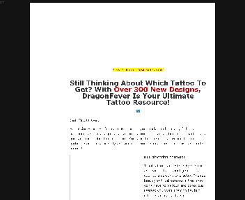 DRAGON FEVER OVER 300 TATTOOS ALL PRINTABLE PLR EBOOK Coupon Codes