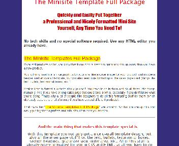 The Minisite Template Full Coupon Codes
