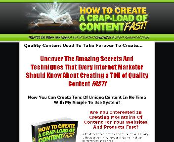 How To Create A Crap Load Of Content Fast Coupon Codes