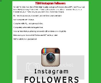 7.500 Instagram Followers Coupon Codes