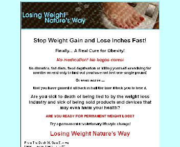 Losing Weight Nature