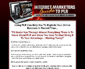 Internet Marketers Guide To PLR discount code