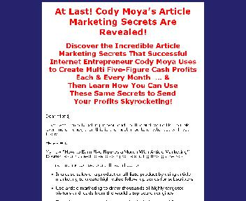 Article Marketing Course Coupon Codes