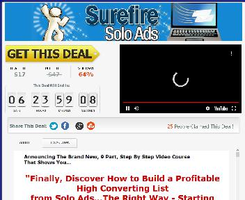 Sure Fire Solo Ads Coupon Codes