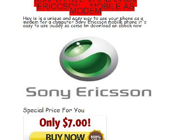 Use Sony Ericcson Mobile as Modem For Your PC Coupon Codes