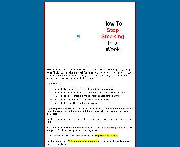 How to Stop Smoking in a Week discount code