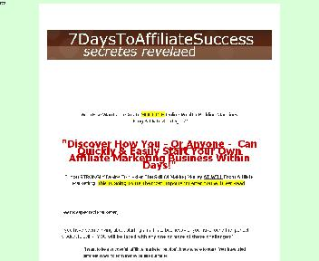 7 Days To Affilate Sucess Coupon Codes