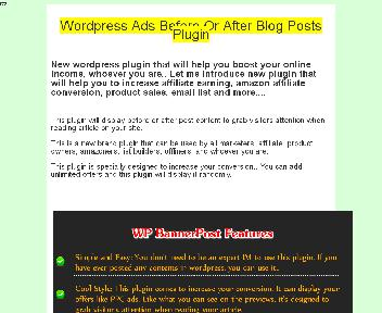 WordPress Ads Before Or After Blog Posts Plugin Coupon Codes