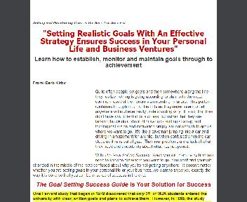 Goal Setting Success Guide Coupon Codes