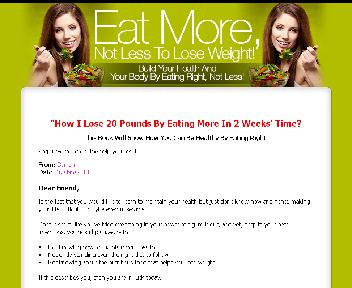 Eat More Not Less to Lose Weight discount code