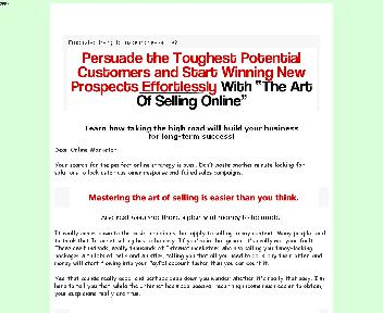 The Art Of Selling Online Comes with Master Resale Rights discount code