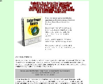 Solar Power Basics Newsletter Comes with Private Label Rights Coupon Codes