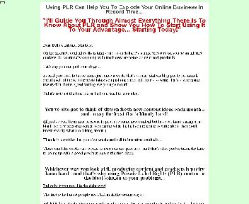 Internet Marketers Guide To PLR Comes with Master Resale/Giveaway Rights discount code