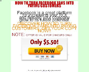 HOW TO TURN FACEBOOK FANS INTO PAYING CUSTOMERS Coupon Codes