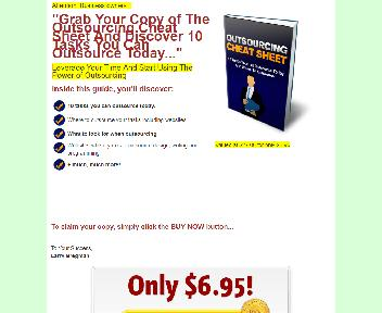 Outsourcing Cheat Sheet Coupon Codes