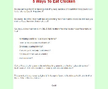 5 Ways To Eat Chicken Comes with Master Resale/Giveaway Rights Coupon Codes